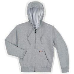 Dickies - TW391HG 5X RG - Hooded Sweatshirt, Zip Front, Gray, 5XL