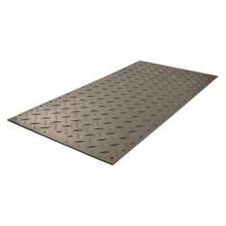 Checkers Industrial - AM38S1 - Black Ground Protection Mat, 3 ft. x 8 ft., High Density Polyethylene