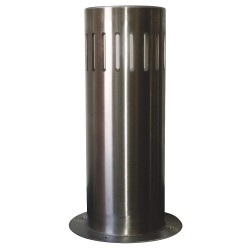 Calpipe - SSLS12100-S-F - 48H Stainless Steel Bollard Cover For Post Size with 12-3/4 dia., Silver
