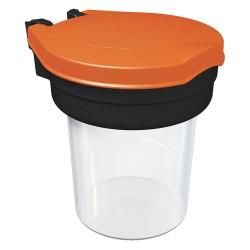 Skipper - DISP01-O - Modular Plastic Safety Dispenser, Black/Orange