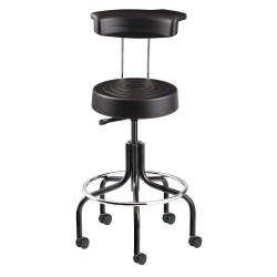 Bevco Precision - S3200R-BLACK - Ergonomic Stool with 20-1/2 to 25-1/2 Seat Height Range and 300 lb. Weight Capacity, Black