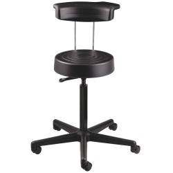 Bevco Precision - S3300R-BLACK - Ergonomic Stool with 21 to 28-1/2 Seat Height Range and 300 lb. Weight Capacity, Black