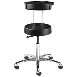 Bevco Precision - S3350R-BLACK - Ergonomic Stool with 20-1/2 to 27-3/4 Seat Height Range and 300 lb. Weight Capacity, Black
