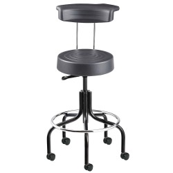 Bevco Precision - S3200R-GRAPHITE - Ergonomic Stool with 20-1/2 to 25-1/2 Seat Height Range and 300 lb. Weight Capacity, Black Base/Gr