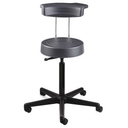 Bevco Precision - S3300R-GRAPHITE - Ergonomic Stool with 21 to 28-1/2 Seat Height Range and 300 lb. Weight Capacity, Gray