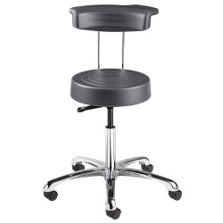 Bevco Precision - S3350R-GRAPHITE - Ergonomic Stool with 20-1/2 to 27-3/4 Seat Height Range and 300 lb. Weight Capacity, Gray
