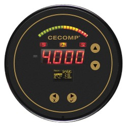 Cecomp / API - C4100-08 +/-10.0' WC H20 - 13/64 Smooth Barb Digital Differential Pressure Gauge with 5 Dial, -10 to 0 to 10 In. H2O