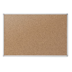 Acco Brands - 85363N - Natural Cork Bulletin Board, Aluminum Frame Material, 72 Width, 48 Height