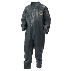 Lakeland - 51110-LG - Collared Chemical-Resistant FR Coveralls with Open Cuff, Gray, L, Pyrolon CRFR