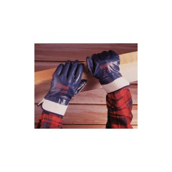 Ansell-Edmont - 27-805 - Smooth Nitrile Coated Gloves, Glove Size: 9, Blue