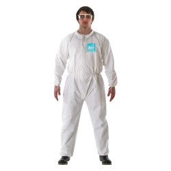 Ansell-Edmont - 68-2000 - Collared Coverall with Elastic Wrists Cuff, White, S, Microporous Laminate