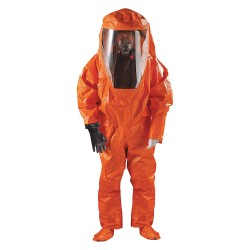 Ansell-Edmont - 68-6000 - Level A Rear-Entry Encapsulated Suit, Orange, Size S, Chemical Laminate
