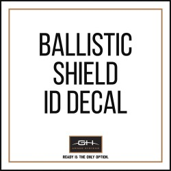 GH Armor Systems / Pacific Safety Products (PSP) - GH-SHB1-ID1 - ID Decal, For Use With Ballistic Shields