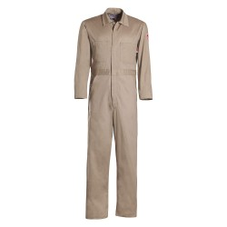 Workrite - 62401GY9 - 100% Cotton, FR Contractor Coverall, Size: L Long, Color Family: Grays