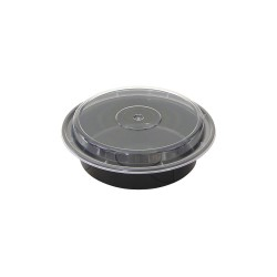 Pactiv - NC723B - 7 x 2 x 2 Plastic Carry-Out Food Container, Black/Clear; PK150