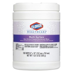 Clorox - 31335 - Clorox Healthcare Quat Alcohol Cleaner Disinfectant Wipes - Wipe - 6 Width x 10 Length - 100 - 1 Each - White