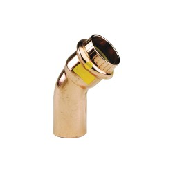 Viega - 77058 - Copper Elbow 45, FTG x Press Connection Type, 1 Tube Size