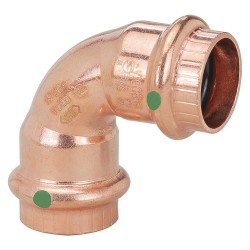 Viega - 77022 - Copper Elbow 90, Press x Press Connection Type, 3/4 Tube Size