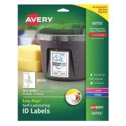 Avery Dennison - 00755 - Overlaminate Label, Polyester, PK50