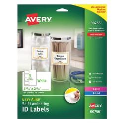 Avery Dennison - 00756 - Overlaminate Label, Polyester, PK100