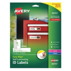 Avery Dennison - 00757 - Overlaminate Label, Polyester, PK250