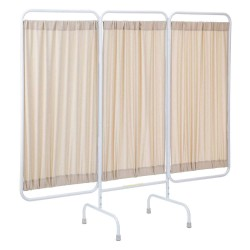 R&B Wire Products - PSS-3/AM/BGF - 3 Panel, 81 x 67 Privacy Screen, Beige