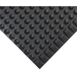 Wearwell / Tennessee Mat - 300.38X3X16BK - Antifatigue Runner, Thermoplastic Polyolefin, Black, 16 ft. x 3 ft., 1 EA