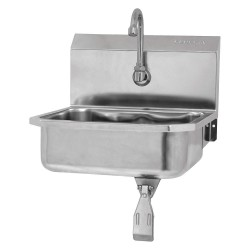 Columbia Sanitary Products - 605L-0.5 - Stainless Steel Hand Sink, With Faucet, Wall Mounting Type, Stainless Steel