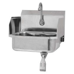 Columbia Sanitary Products - 607L-0.5 - Stainless Steel Hand Sink, With Faucet, Wall Mounting Type, Stainless Steel