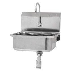 Columbia Sanitary Products - 5051-0.5 - Stainless Steel Hand Sink, With Faucet, Wall Mounting Type, Stainless Steel