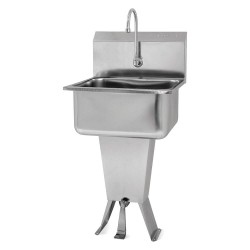 Columbia Sanitary Products - 5211-0.5 - Stainless Steel Hand Sink, With Faucet, Floor Mounting Type, Stainless Steel