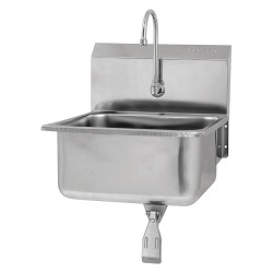 Columbia Sanitary Products - 5251-0.5 - Stainless Steel Hand Sink, With Faucet, Wall Mounting Type, Stainless Steel