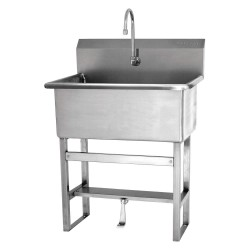 Columbia Sanitary Products - 531F1-0.5 - Stainless Steel Scrub Sink, With Faucet, Floor Mounting Type, Stainless Steel