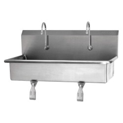 Columbia Sanitary Products - 54W1-0.5 - Stainless Steel Wash Station, With Faucet, Wall Mounting Type, Stainless Steel