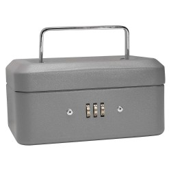 Barska - CB11782 - Barska CB11782 6-Inch 3 compartment Grey Cash Box with Combination Lock