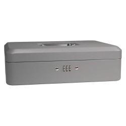 Barska - CB11788 - Barska CB11788 12-Inch 5 Compartment Grey Cash Box with Combination Lock