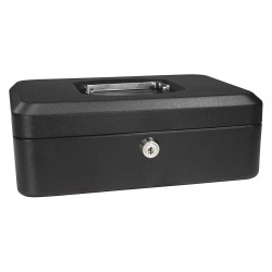 Barska - CB11830 - Barska CB11830 8-Inch 3 Compartment Removable Tray Cash Box with Key Lock