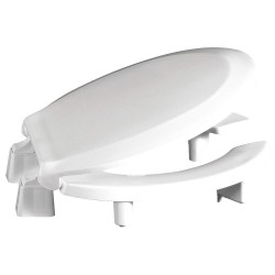 Centoco - GR3L460STS-001 - Toilet Seat, Round, With Cover, 16-1/2 Bolt to Seat Front