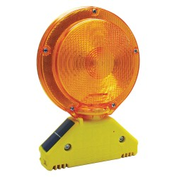 K&E Railhead - M900-SA - Barricade Light, 7-1/4 Head Dia., Amber, Solar