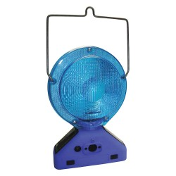 K&E Railhead - M900-SB-H - Barricade Light, 7-1/4 Head Dia., Blue, Solar