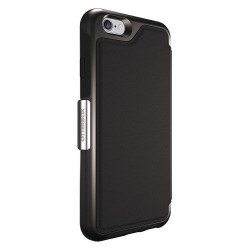 OtterBox - 77-51582 - OtterBox Strada Carrying Case (Folio) for iPhone 6, Card - Black - Drop Resistant - Genuine Leather, Plastic