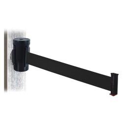 Visiontron - WH700SB-BK-MM - Retractable Belt Barrier, Black, None