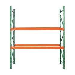 Husky Rack and Wire - 183612043120DS - 126W x 36 D x 120H Steel Pallet Rack Starter Unit, 19, 380 lb. with Beams Evenly Spaced at 36