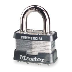Master Lock - 1KA-2265 - Alike-Keyed Padlock, Open Shackle Type, 15/16 Shackle Height, Silver
