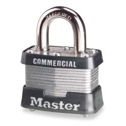 Master Lock - 3KA-A1459 - Alike-Keyed Padlock, Open Shackle Type, 3/4 Shackle Height, Silver