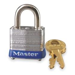 Master Lock - 7KA-P844 - Alike-Keyed Padlock, Open Shackle Type, 9/16 Shackle Height, Silver