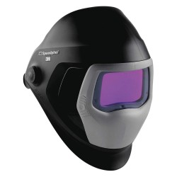 3M - 06-0100-30ISW - 9100 Series, Auto-Darkening Welding Helmet, 5, 8 to 13 Lens Shade, 4.20 x 2.80 Viewing AreaBlack