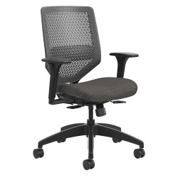 HON - HSLVMR.Y1.A.H.0S.COMP10.BL.SB - Black Mesh Task Chair 22 Back Height, Arm Style: Adjustable