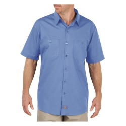 Dickies - LS516LW - Short Sleeve Work Shirt, Light Blue, S