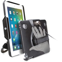 CTA Digital - PAD-ACG - CTA Digital Anti-Theft Case with Built-In Grip Stand for iPad and iPad Air - Black